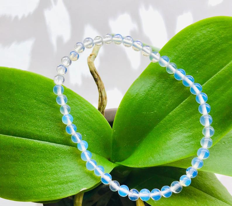 Free the Spirit, Growth, Intuition - Spark of Magic Opalite 4mm Beaded Bracelet