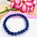 Inner Vision, Inner Power & Mental Organization - Lapis Lazuli 8mm Beaded Bracelet
