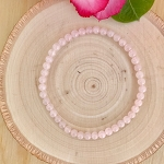 Love, Emotional Healing, Stress Relief, Unity - Rose Quartz 4mm Beaded Bracelet