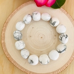 The Stone of Patience - Howlite Tumbled Gemstone Bracelet