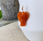 Creativity, Courage, Sexuality - Carnelian Protection Angel Pendant