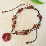 Creativity, Courage, Sexuality - Intuition Journey Carnelian Necklace
