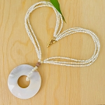 Purity, Calming, Centering - Pearl Shell Necklace