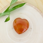Daily Dose of Love by Helena - Small Carnelian Meditation Heart