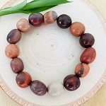 Independence, Security, Stability - Jasper Tumbled Gemstone Bracelet