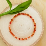 Creativity, Courage, Sexuality - Carnelian 4mm Beaded Bracelet