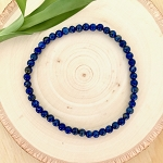 Inner Vision, Inner Power, Mental Organization - Lapis Lazuli 4mm Beaded Bracelet