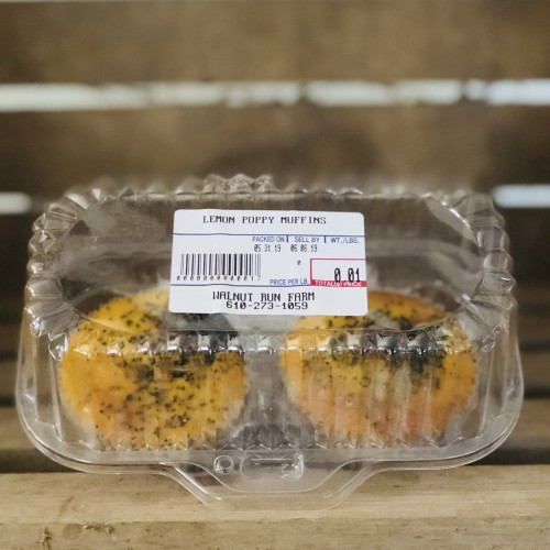Lemon Poppy Gluten-Free Muffins, 2-pack