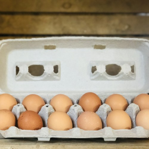 Small Brown Soy-Free Chicken Pullet Eggs, 1 dozen