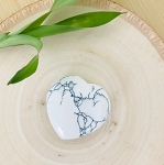 Receive Wisdom, Peace and Calm - Small Howlite Meditation Heart