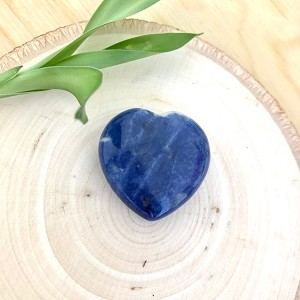 Stone of Logic, Efficiency and Mindfulness - Small Sodalite Meditation Heart
