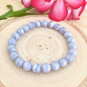 Restore Balance and Peace  - Chalcedony 8mm Beaded Bracelet