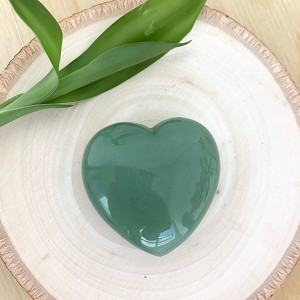 The Stone of Opportunity & Optimism - Aventurine Meditation Heart