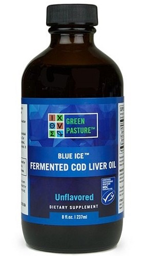 LIQUID Blue Ice Fermented Cod Liver Oil 8oz