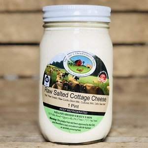 Salted A2 Cottage Cheese, 16oz (Glass)